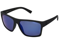 Von Zipper Dipstick Polar Black Satin Wild Blue Flash Polar Plus Sport Sunglasses