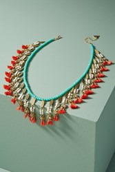Anthropologie Miranda Bib Necklace Turquoise