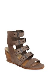 Dolce Vita Women's Laken Wedge Sandal Grey Nubuck