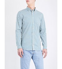 Tommy Hilfiger Scott Checked Slim Fit Cotton Shirt Sapphire Yellow