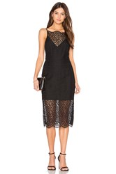 Keepsake Day Dream Lace Midi Dress Black