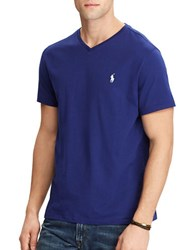 Polo Ralph Lauren Jersey V Neck Tee Yale Blue