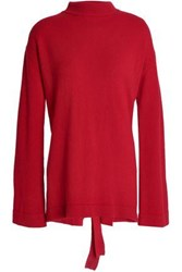 Ellery Open Back Merino Wool Sweater Red