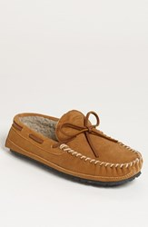Men's Minnetonka 'Casey' Slipper Cinnamon Suede