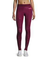 Adidas By Stella Mccartney Training Recovery Compression Tights Leggings Cherry Wood Wine