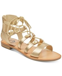 G By Guess Hotsy Flat Sandals Women's Shoes Gold