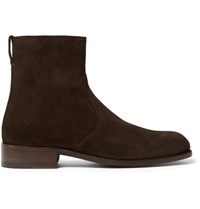 Tom Ford Wilson Suede Boots Brown