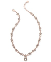 Charter Club Crystal Pendant Necklace Only At Macy's Rose Gold