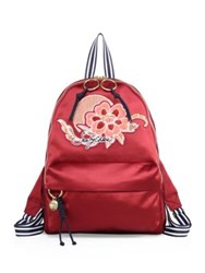 See By Chloe Andy Satin Embroidered Backpack