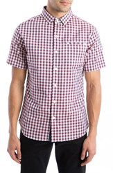 7 Diamonds Men's Slip Stream Dobby Check Woven Shirt