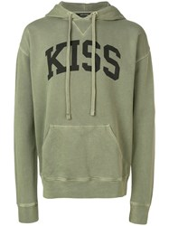 Zadig And Voltaire 'Kiss' Printed Sweatshirt Green