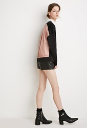 Forever 21 Zippered Colorblock Jacket Black Grey