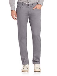 Armani Collezioni Straight Leg Jeans Striped Grey
