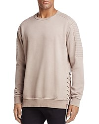 Nana Judy Imperial Lace Up Crewneck Sweatshirt Beige