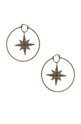 Roberto Cavalli Star Hoop Earrings In Metallics