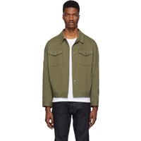 Harris Wharf London Green Overshirt Jacket