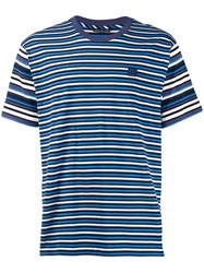 Acne Studios Striped Crew Neck T Shirt Blue
