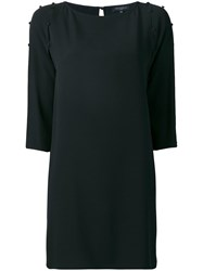 Antonelli Buttoned Sleeves Dress Black