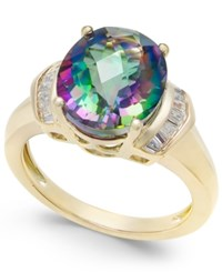 Macy's Mystic Topaz 4 9 10 Ct. T.W. And White Topaz 1 4 Ct. T.W. Ring In 14K Gold Plated Sterling Silver Multi