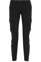 L'agence Montgomery Stretch Cotton Twill Skinny Pants Black