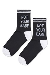 Topshop Not Your Babe Ankle Socks Black