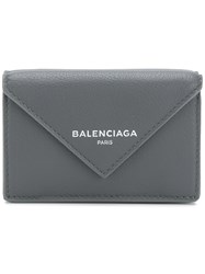 Balenciaga Bal Papier Mini Wallet Grey