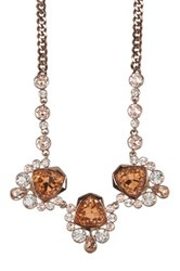 Givenchy Crystal Drama Frontal Necklace Brown