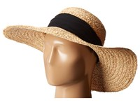 Hat Attack Braided Sunhat W Scarf Band Natural Black Caps Beige