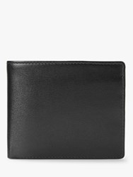Launer Eight Card Leather Billfold Wallet Ebony Black