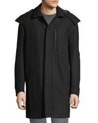 Marc New York Boulevard Coat W Removable Hood Black