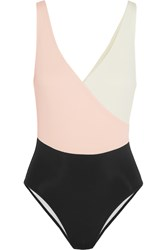 Solid And Striped The Ballerina Color Block Swimsuit Pastel Pink