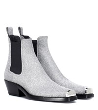 Calvin Klein 205W39nyc Western Claire Ankle Boots Silver