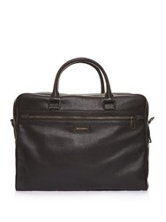 Dolce And Gabbana Grained Leather Briefcase