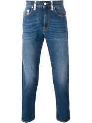 Love Moschino Cropped Jeans Blue