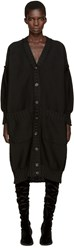 Maison Martin Margiela Black Oversized Long Cardigan