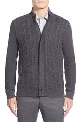Men's Ted Baker London 'Hofman' Cable Knit Zip Sweater