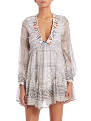 Lalesso Shabiki Silk Dress White