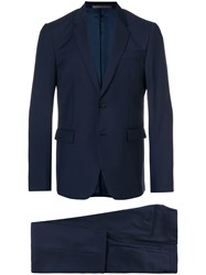 Mauro Grifoni Two Piece Formal Suit Blue
