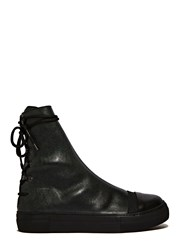 Barny Nakhle Greta Leather Boots Green