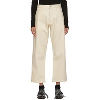 Studio Nicholson Off White Ruthe High Waisted Jeans