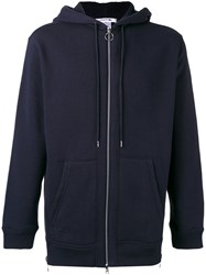Lacoste Side Zip Hoodie Men Cotton 3 Blue