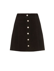 Alexa Chung For Ag The Gove Suede A Line Mini Skirt