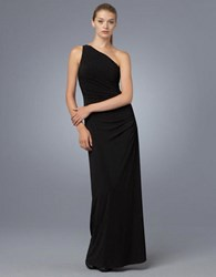 Laundry By Shelli Segal One Shoulder Matte Jersey Dress Black
