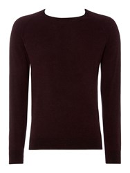 Linea Jones Triangle Twisted Crew Neck Jumper Red