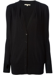 Gold Hawk Classic V Neck Cardigan Black
