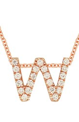 Bony Levy Women's Pave Diamond Initial Pendant Necklace Nordstrom Exclusive Rose Gold W