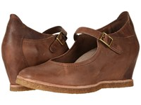 Earth Boden Almond Burnishable Nubuck Wedge Shoes Brown