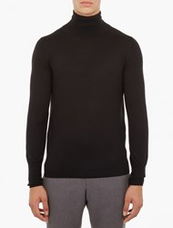 Acne Studios Black Joakim Roll Neck Sweater White