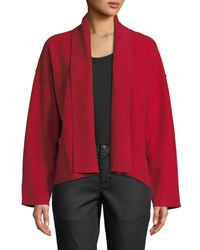 Eileen Fisher Lightweight Boiled Wool Jacket Lacquer