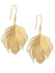 Annette Ferdinandsen Fauna 14K Yellow Gold Small Peacock Earrings